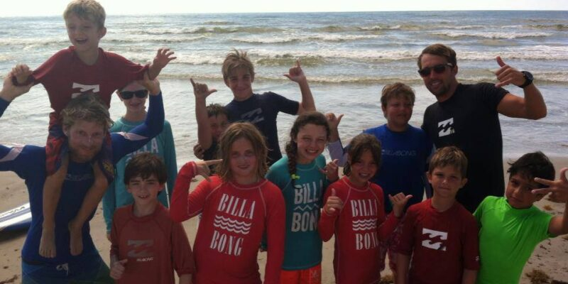 group surf lessons texas